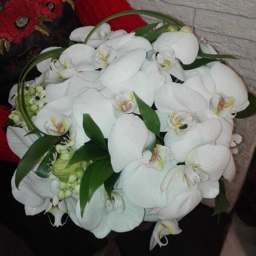 Необыкновенные орхидеи для невесты: букеты цветов на заказ Flowwow