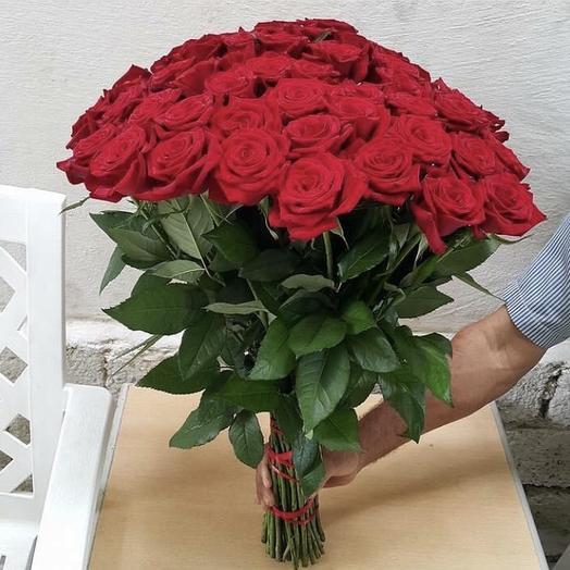 Букет 25 красных роз️: букеты цветов на заказ Flowwow