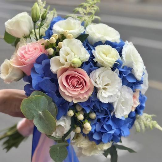 "Свадебный букет ""Чистая лазурь"": букеты цветов на заказ Flowwow"