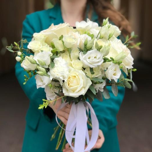 """Свадебный букет """"Первый лист"""": букеты цветов на заказ Flowwow"""