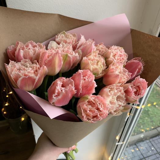 Пионовидные Тюльпаны по супер цене: букеты цветов на заказ Flowwow