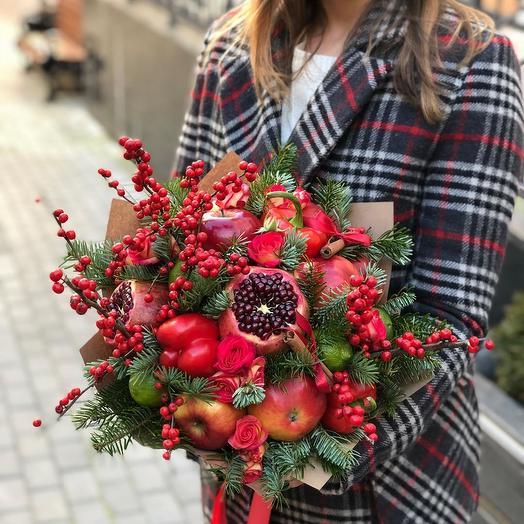 Морозные ягоды: букеты цветов на заказ Flowwow