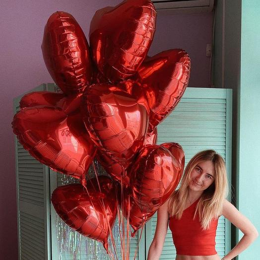 11 red hearts