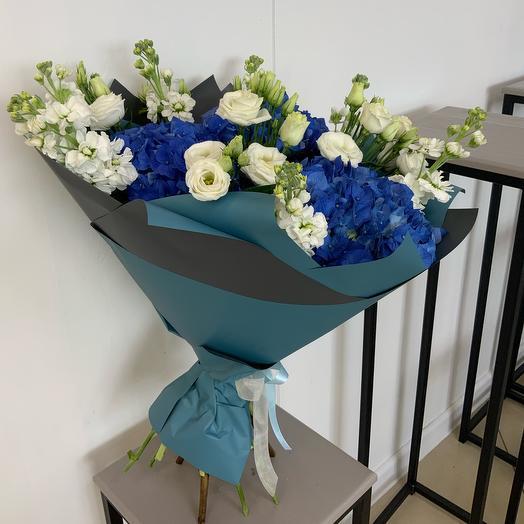 Букет Синее чудо: букеты цветов на заказ Flowwow
