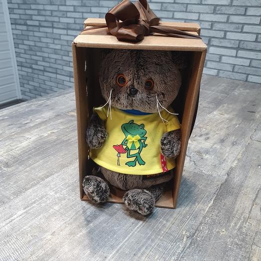 Басик в футболке с лягушонком