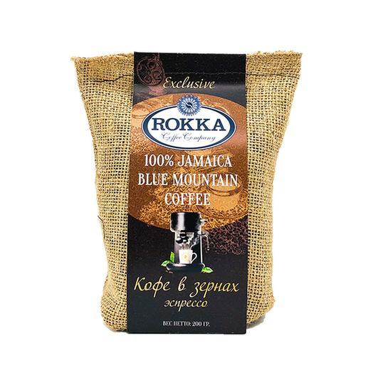 "Кофе в зернах ""Rokka"" Ямайка Блю Маунтин, темная обжарка"