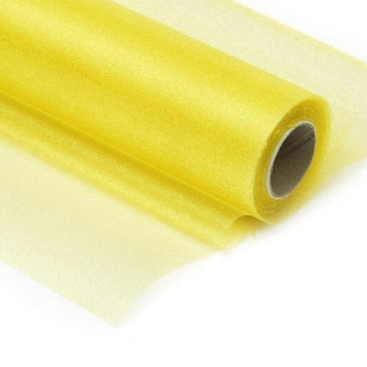 Органза жёлтая (золотая) 1 метр