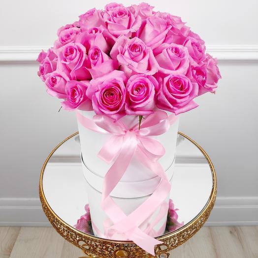 Коробочка розовых роз Ревиваль(коробка конфет в подарок, условие в описании)