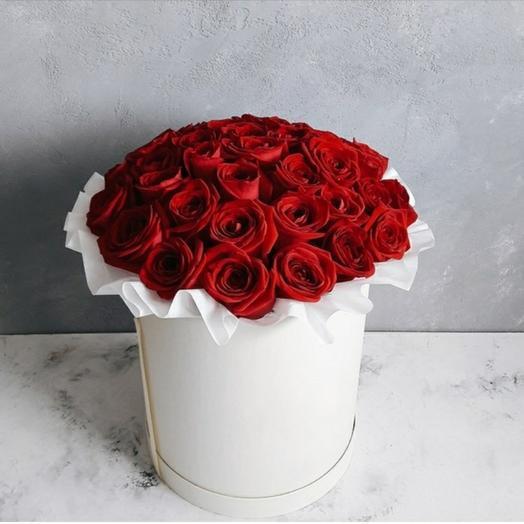 "Коробка""45 красных роз"""