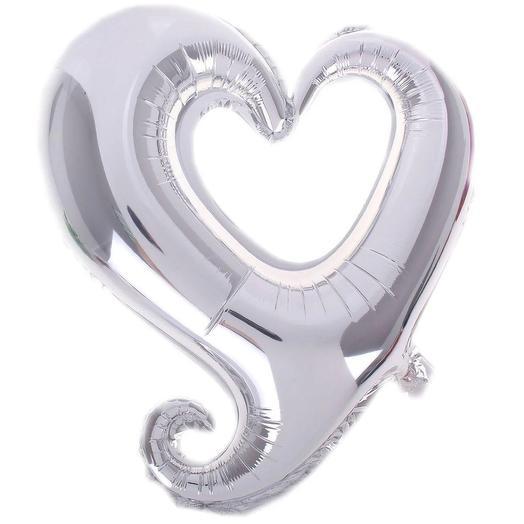 Шар сердце фигурный