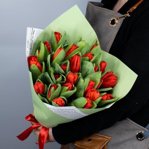 Букет из 25 тюльпанов Эскейп