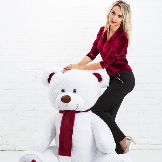Мишка 160 см «Граф Ред» белый