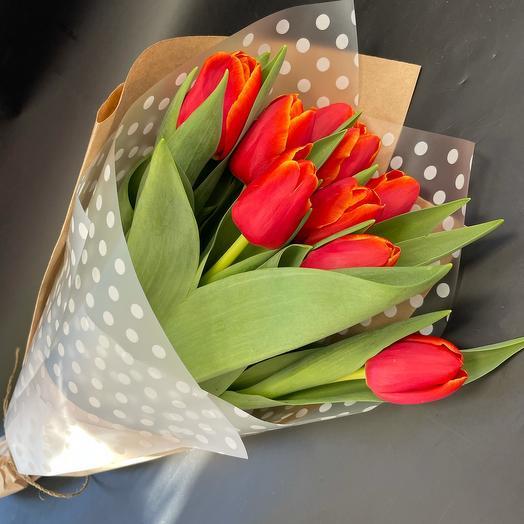 Тюльпаны 9шт
