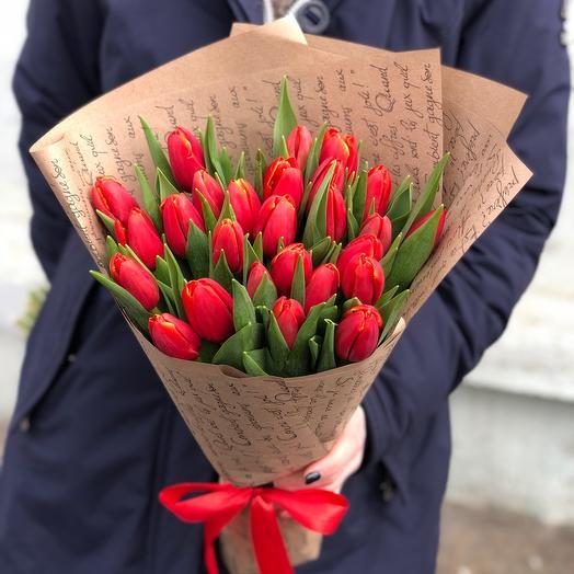 Букет Краснае Тюльпаны