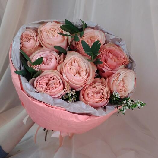 """Пионовидная роза кахала в букете """"наслаждение ️"""""""