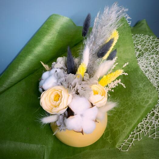 Лимонные сухоцветы