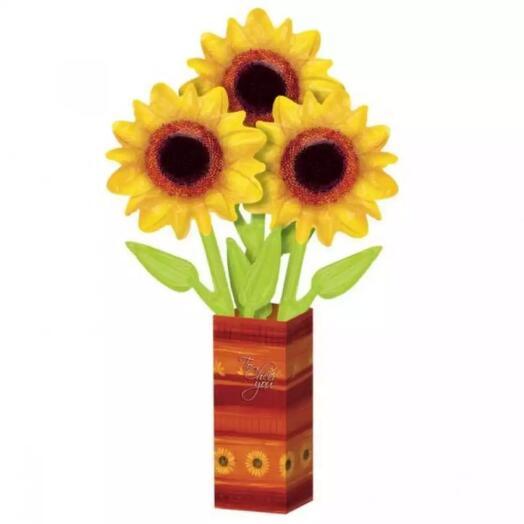"""Букет цветов из воздушных шаров """"Подсолнухи"""""""