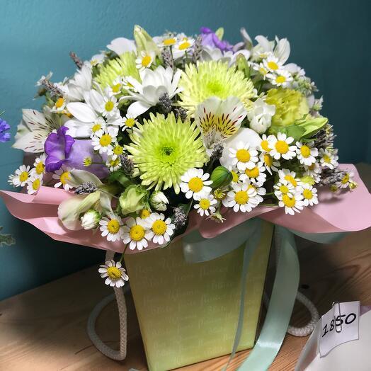 Цветы в коробке Летнее настроение
