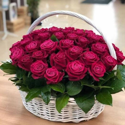 Корзина с цветами Азарт