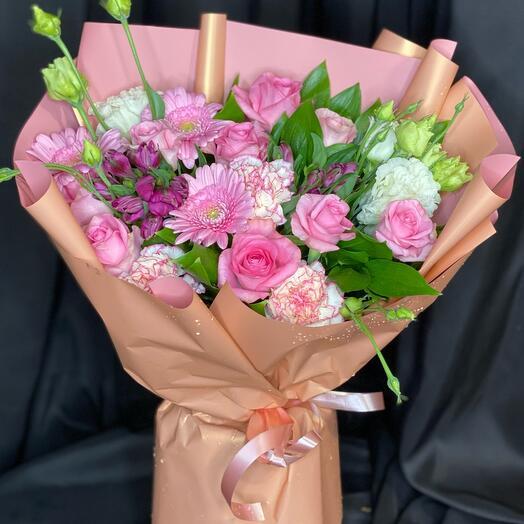 Букетик розовый