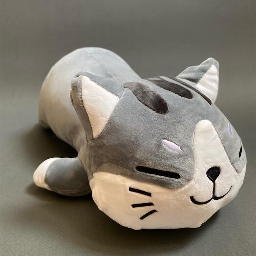 Милый кот-подушка 50 см