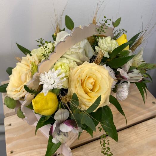 Ящик с цветами «Сентябрь»