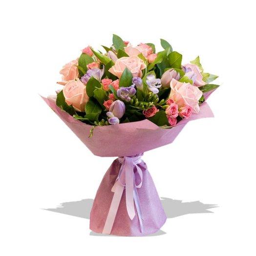 Букет цветов Розово-сиреневый: букеты цветов на заказ Flowwow