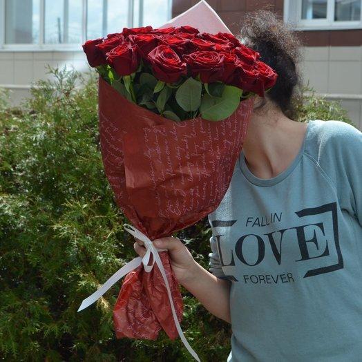 21 роза 70см