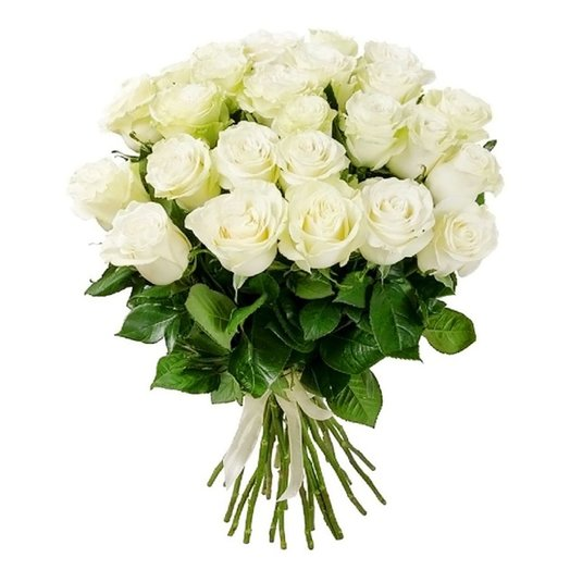 35 белых роз: букеты цветов на заказ Flowwow