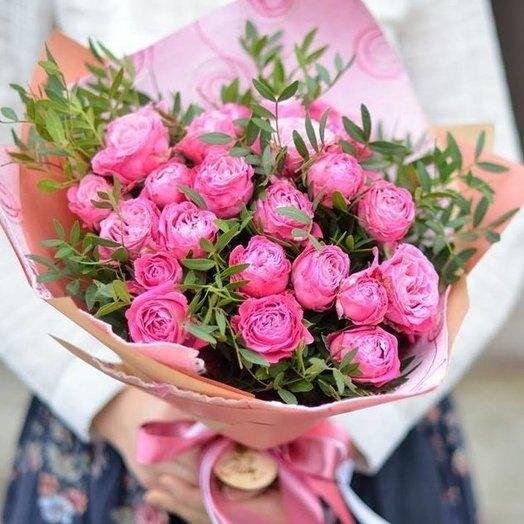 """Букет """"Из пионовидной розы"""": букеты цветов на заказ Flowwow"""