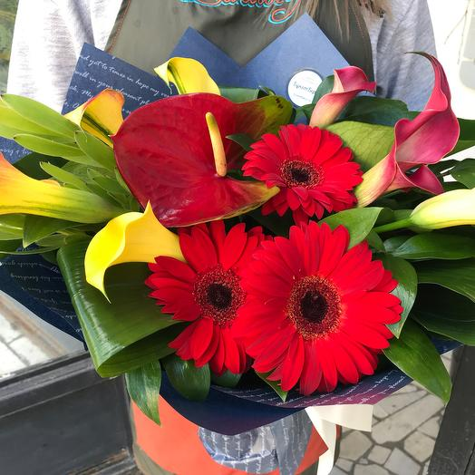 Букет с каллами : букеты цветов на заказ Flowwow