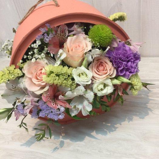 Коробка двухсторонняя: букеты цветов на заказ Flowwow