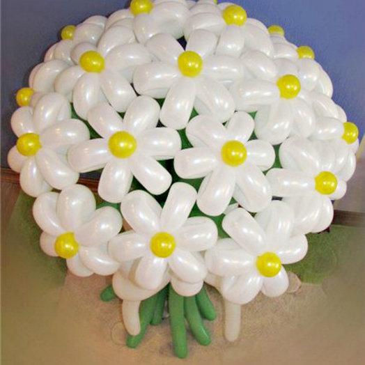 Букет белых ромашек 17 шт: букеты цветов на заказ Flowwow