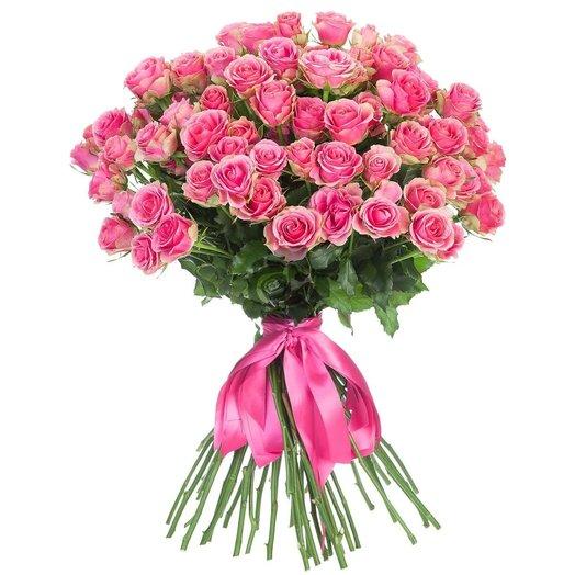 9 розовых кустовых роз: букеты цветов на заказ Flowwow