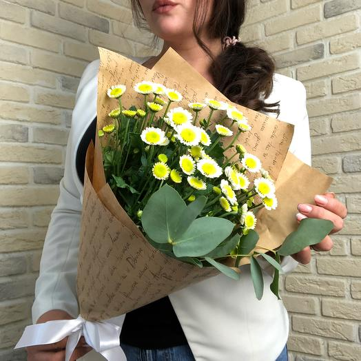 Ромашки в крафте : букеты цветов на заказ Flowwow