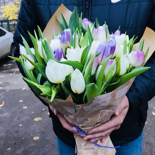 Милые Тюльпаны: букеты цветов на заказ Flowwow