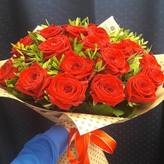 25 роз с фисташкой: букеты цветов на заказ Flowwow
