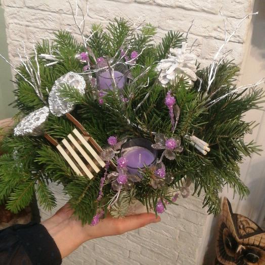 Зимняя композиция по супер цене: букеты цветов на заказ Flowwow