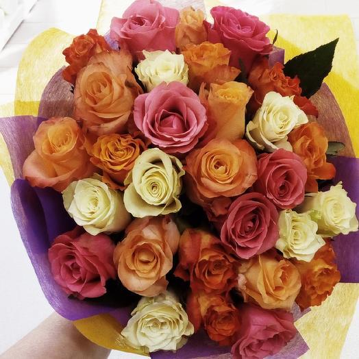 """Букет из 29 роз """"Настроение"""": букеты цветов на заказ Flowwow"""