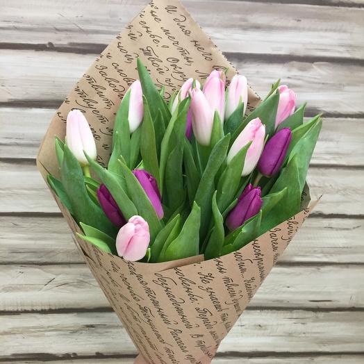 13 тюльпанов микс: букеты цветов на заказ Flowwow