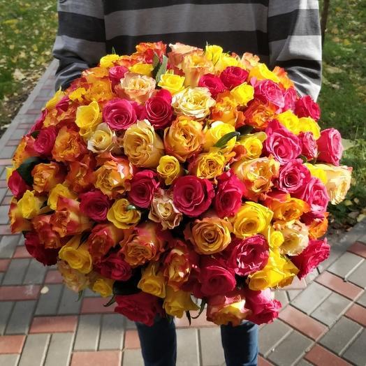 Яркий микс 101 роза