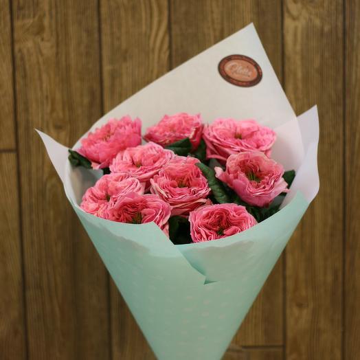 Букет из пушистых пионовидных роз: букеты цветов на заказ Flowwow