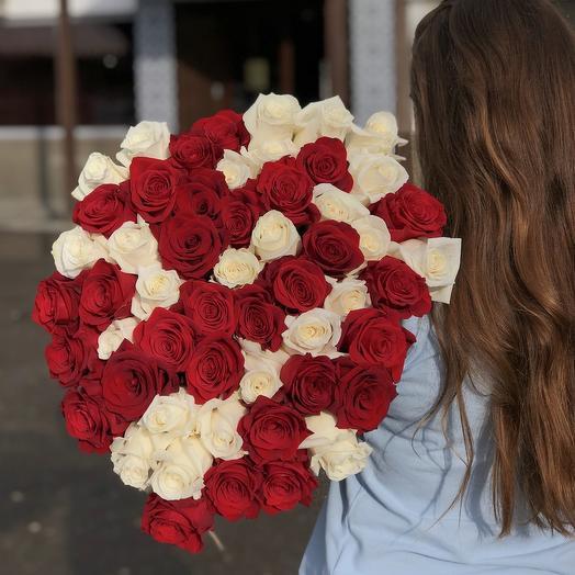 49 премиальных роз: букеты цветов на заказ Flowwow