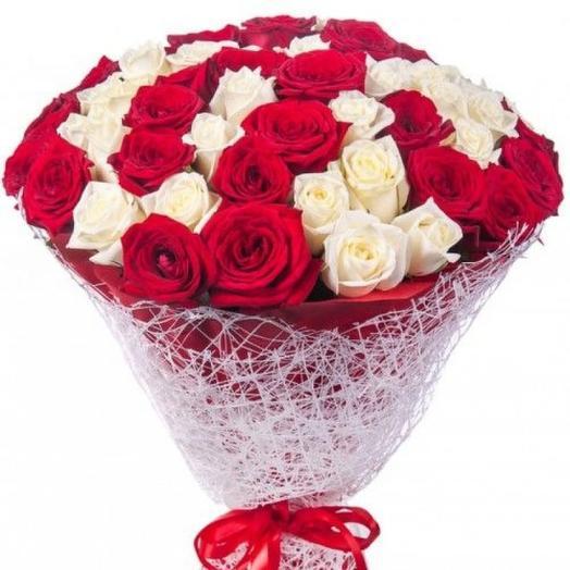 Красно--белое: букеты цветов на заказ Flowwow