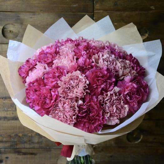Букет розовых диантусов 🌸: букеты цветов на заказ Flowwow