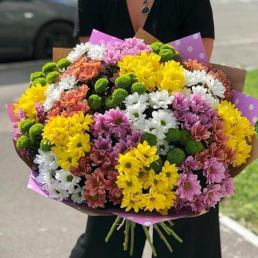 Хризантемная поляна: букеты цветов на заказ Flowwow