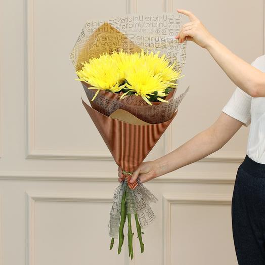 Букет из хризантем Анастасия: букеты цветов на заказ Flowwow