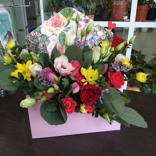 Цветочная посылка: букеты цветов на заказ Flowwow