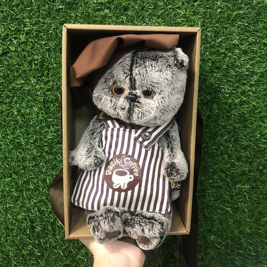 Мягкая игрушка «Кот Баристо»: букеты цветов на заказ Flowwow