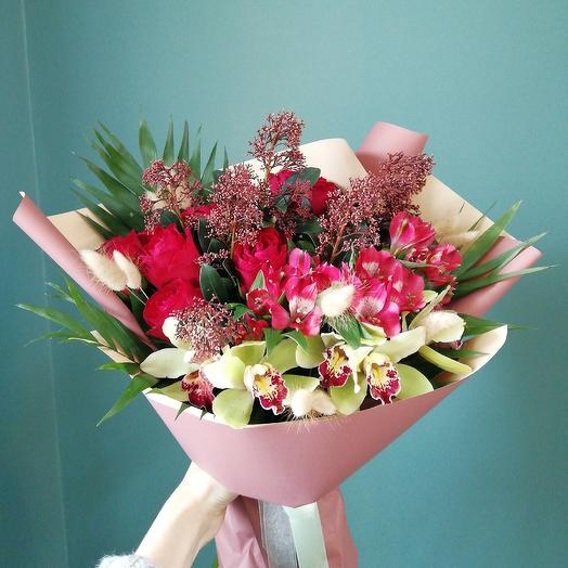 """Букет """"Огонь любви"""": букеты цветов на заказ Flowwow"""